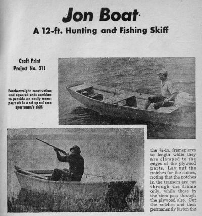 Plastic Jon Boat